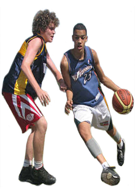 Basketball training action. All skill levels. Live-in or live-out campers